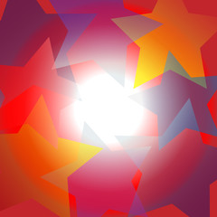 Bright star center spotlight abstract background