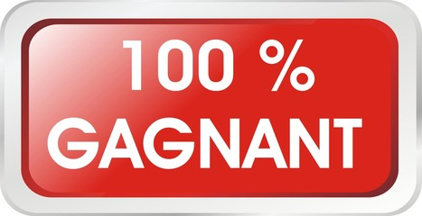 bouton rectangle 100% gagnant
