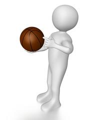 Man with basket ball