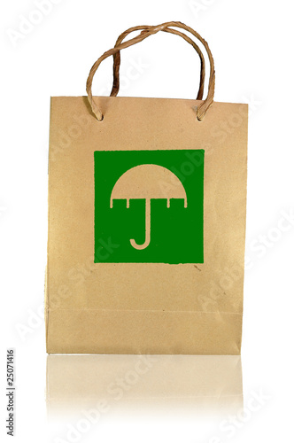 Beware wet logo paper bag