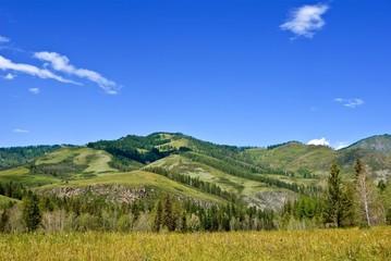 low mountains landscape