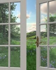 Countryside Window View