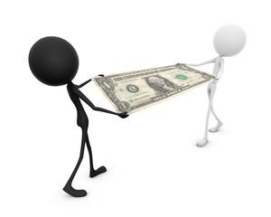 Mr. Emotion V52.2b Money Fight DOLLAR blackwhite