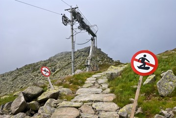 old cableway in a mountains