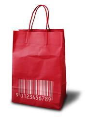 red Crumpled peper bag