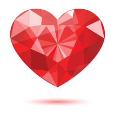 diamond heart shape