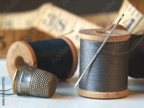 Needle, Thread, and Thimble - 25077821