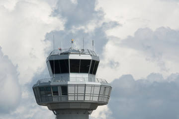 Control tower in the clouds