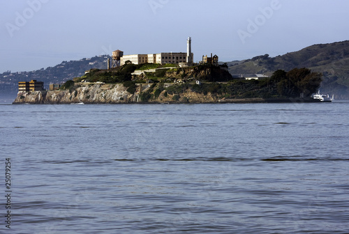 Alcatraz island next to San Francisco