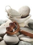 massage vitalisant et exfoliant tonique poster