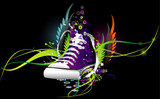 sneaker abstract vector illustration