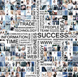 A business collage with young and successful people
