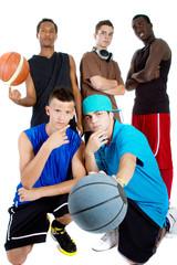 Interracial Basketball team