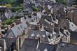 dinan,bretagna-panorama dalla torre dell'orologio