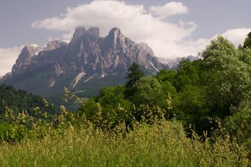 alpen dolomiten hochgebirge Felsen Berggipfel kalkalpen