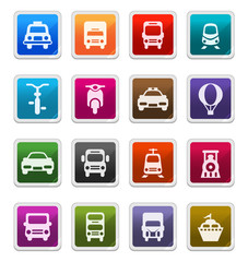 Transportation Icons - sticker series