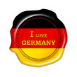 i love germany button, siegel, fan stempel