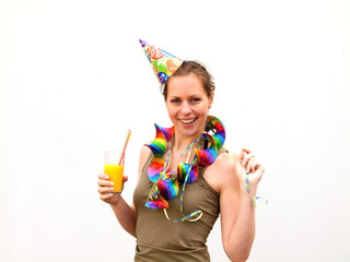 Frau bei Feierlichkeiten