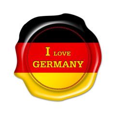 i love germany button, siegel, fan stempel