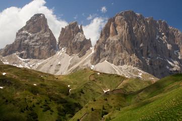 zinnen Bergstation Gipfel alpen dolomiten hochgebirge Felsen
