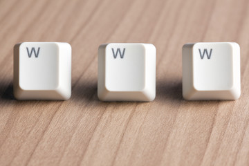 www word  making from computer keyboard