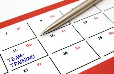 Teamtraining Eintrag Kalender
