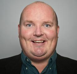 portrait smiling middle age man close up