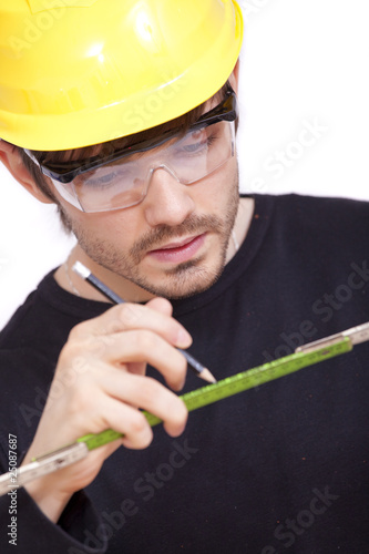 construction worker with pen