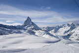 Fototapety Panoramic view with Matterhorn