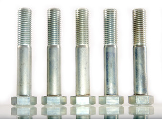 Five bolts standing