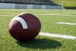 Closeup of American Football on Field