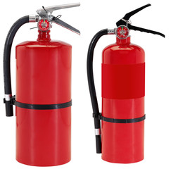 Fire extinguishers isolated on white background