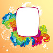 Colorful frame for your message. Editable strokes.