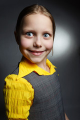 Close-up portrait of beautiful little girl