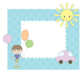 Vector photo frame for boy