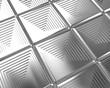 Shiny silver tiles background
