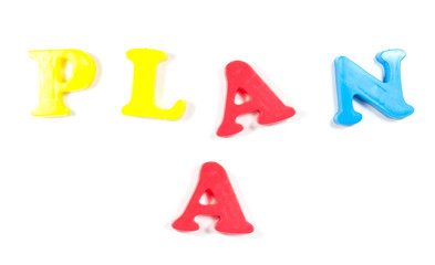 Plan A, written in fridge magnets