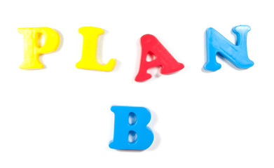 Plan B written in fridge magnets