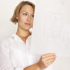 Architekt mit Pläne