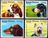 Collection of dog stamps. poster