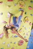 athletic girl climbing