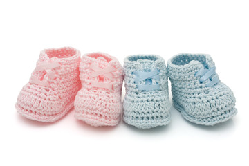 Two pairs of baby booties