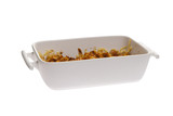 casserole on white background