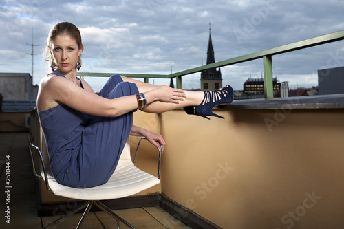 Balcony - nice lady