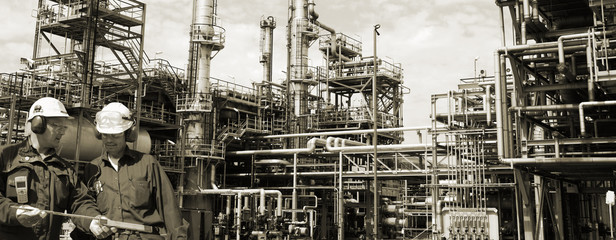 oil-refinery and engineering panoramic