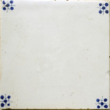 antique 17th century blue and white tile