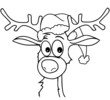 Rudolph mit Nikolausmütze