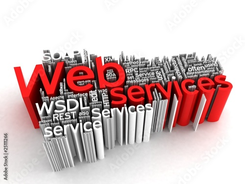 Web Services 3D - Word Collage