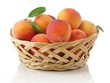 peaches in the basket