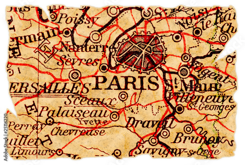 Paris old map - 25116220